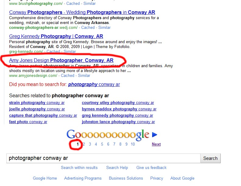 How I impoved the rankings of a local photographer