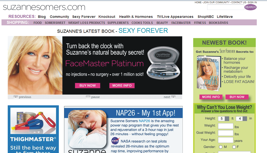 Seven Things to learn about marketing from Suzanne Somers