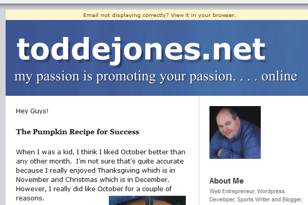 Sign up for my Email Newsletter!
