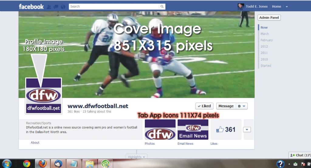 dfwfootball facebook timeline